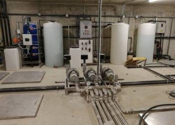 Μηχανοστάσιο μονάδας βιολογικού με υπόγειες δεξαμενές. Ξενοδοχείο στην Κέρκυρα.