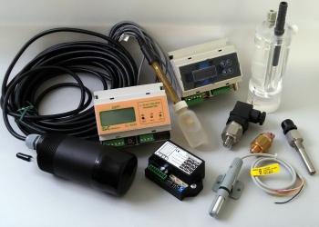Αισθητήρες, ηλεκτρόδια και μόνιτορ για όργανα μέτρησης και μονάδες ελέγχου.
